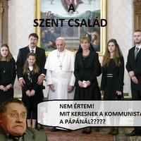 Komcsik a pápánál