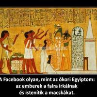 Facebook ókori Egyiptom
