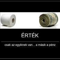 Pénz és a wc papír értéke