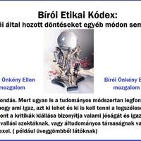 Bírói Etikai Kódex áltudományos