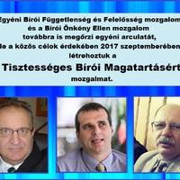 Tisztességes Bírói Magatartásért mozgalom megalakult