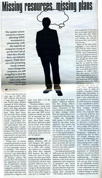 Cikk a Budapest Business Journal magazinban