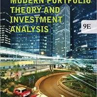 Modern Portfolio Theory And Investment Analysis Download