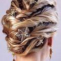 Fonott vagy fonással díszített esküvői frizurák