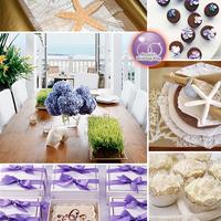 Lila-kék esküvői színek