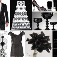 Fekete-fehér esküvői színek