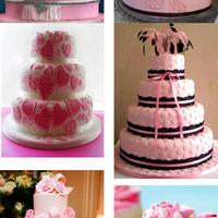 Pink esküvői torta ötletek
