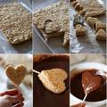 Csoki szívek Valentin napra