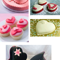 Szív alakú esküvői torták