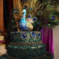 Esküvői torták páva mintával