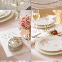 Elegáns és romantikus asztaldekoráció