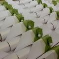 Együtt jobban mutat: Zöld esküvői meghívó (G&O Design)