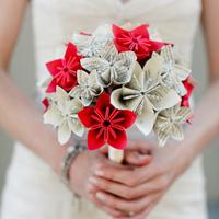 Menyasszonyi csokor papírból