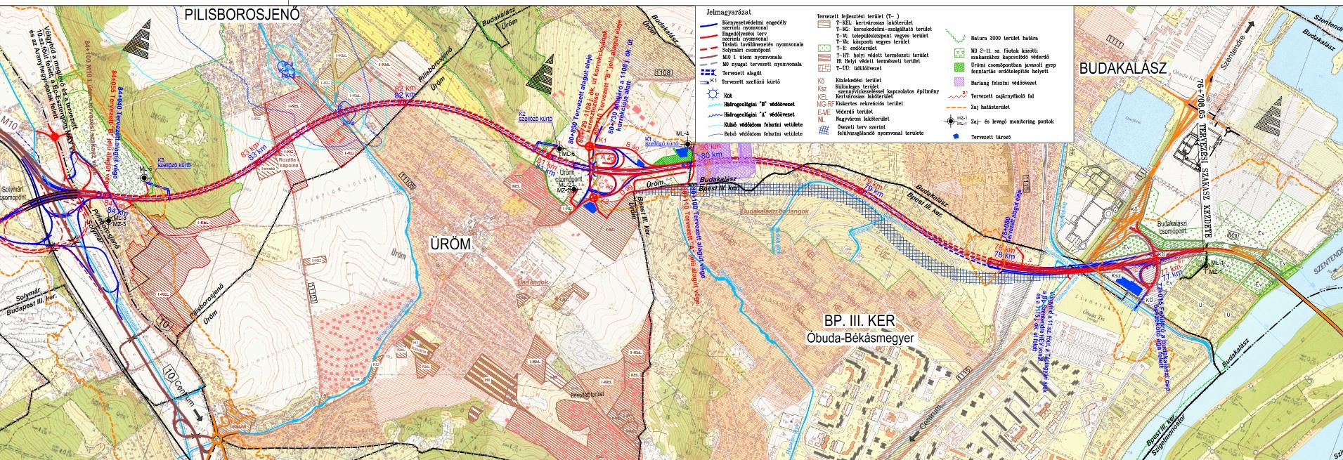 m0 térkép Az M0 ás körgyűrű északi szektort 2023 ig tervezik megépíteni  m0 térkép