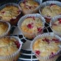 Túrós, ribizlis muffin/sütemény