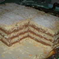 Szálikális krémes (Babi torta? 4 lapos krémes?) - keresztanyámtól