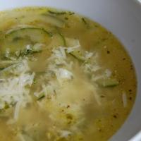 Fokhagymás cukkini leves nyáriasan