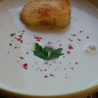 fokhagymás sajtkrémleves