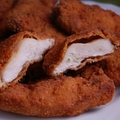 pácolt, panírozott csirkemell falatok