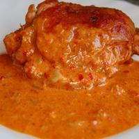 Sült csirke ajvárral (avagy paprikás sült csirke 2)
