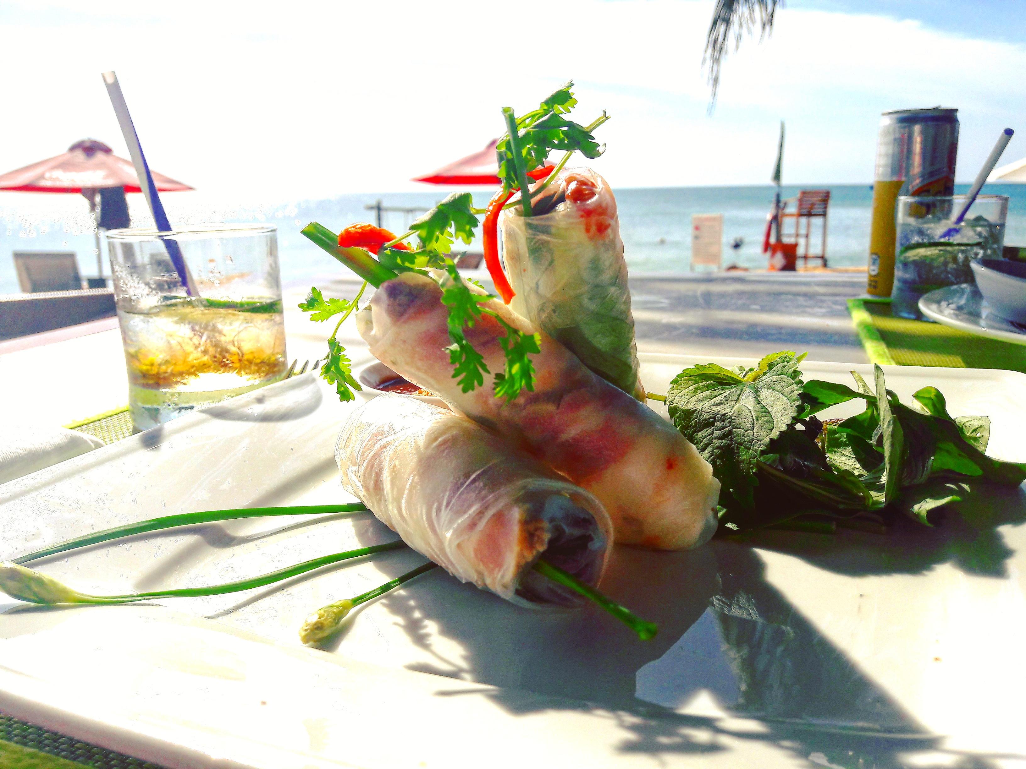 Friss vietnámi tavaszi tekercs - a hotelünk éttermében