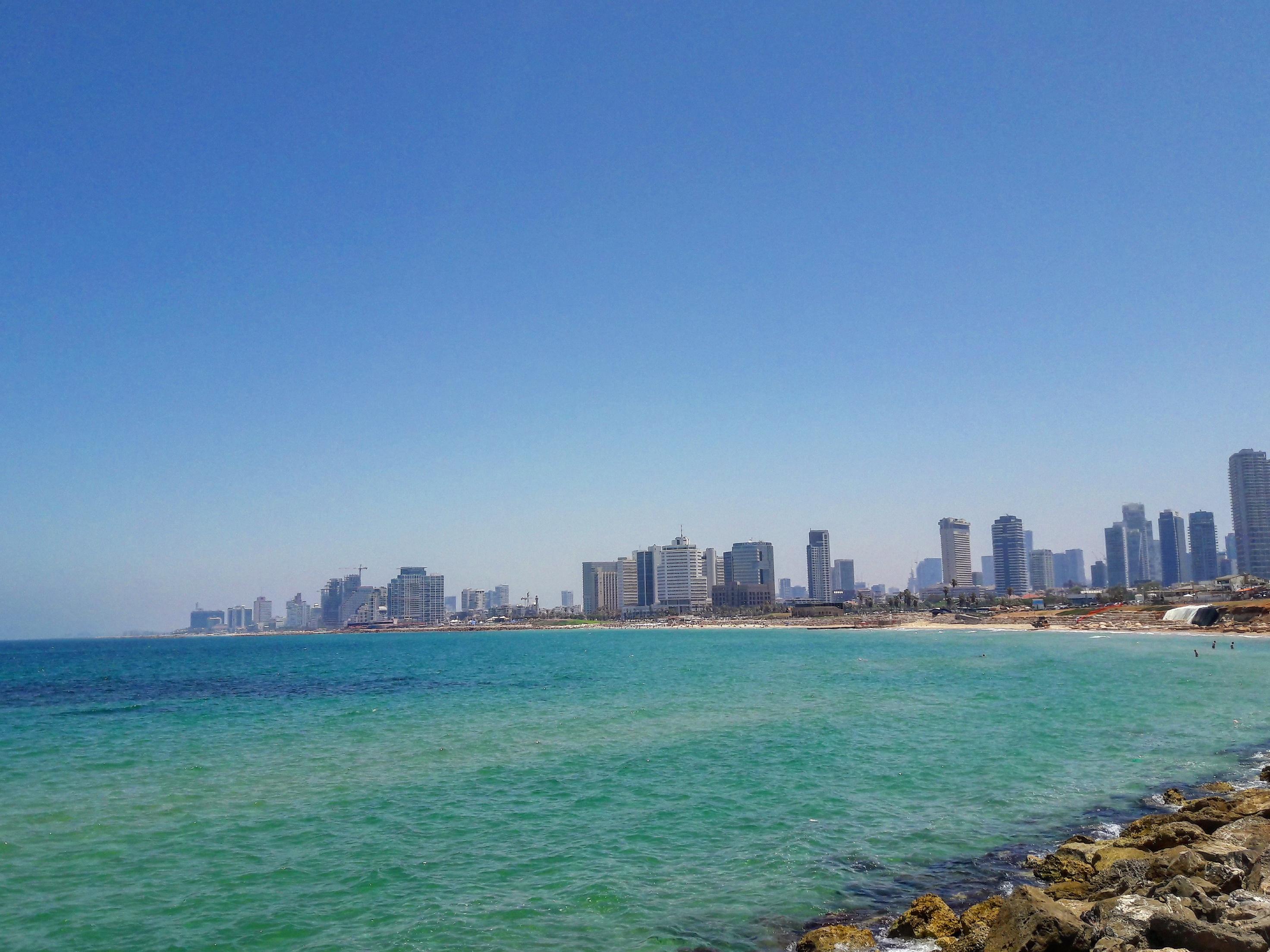 Jaffából a kilátás a city-re