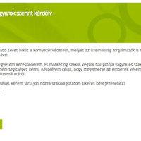 Bioetanol a magyarok szerint (kérdőív)