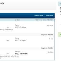 Azok az olaszok... Bangkok-Perugia 291€ biznisz osztalyon