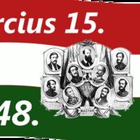 1848 március 15-i forradadalom és szabadságharc évfordulója