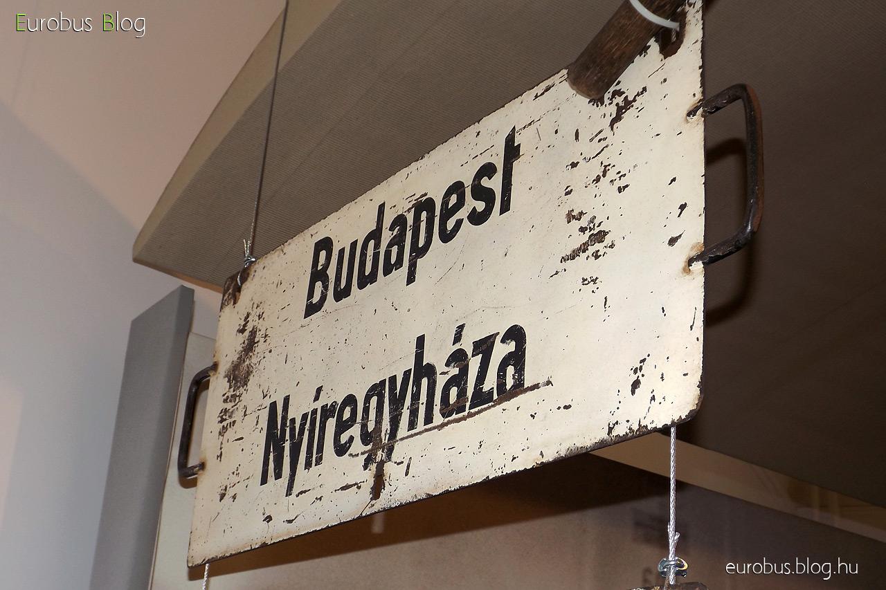 Táblagyűjtemény egy darabja: Budapest - Nyíregyháza.