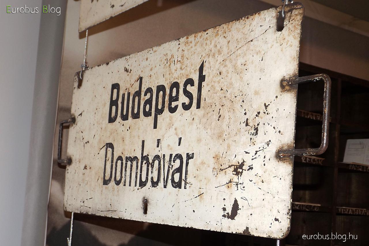 Táblagyűjtemény egy darabja: Budapest - Dombóvár.