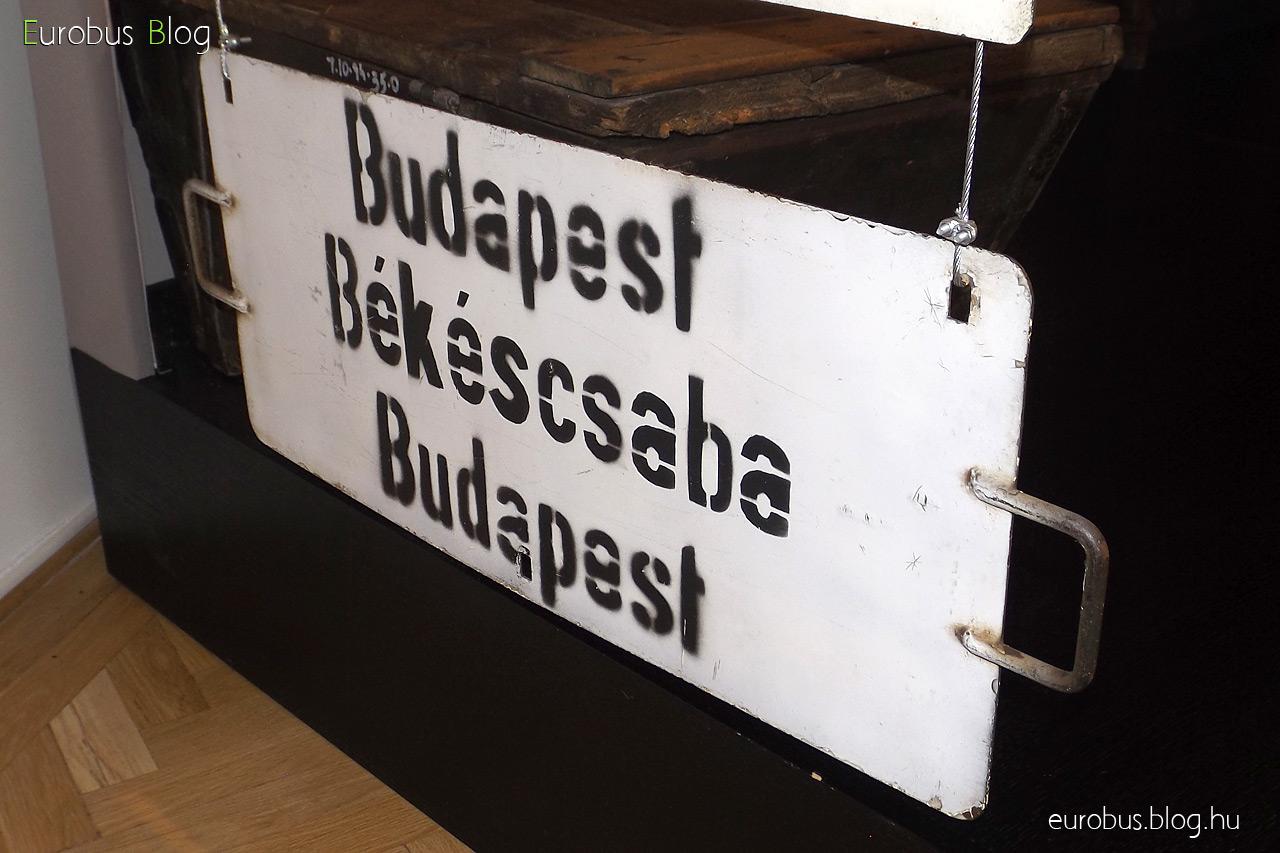 Táblagyűjtemény egy darabja: Budapest - Békéscsaba - Budapest.