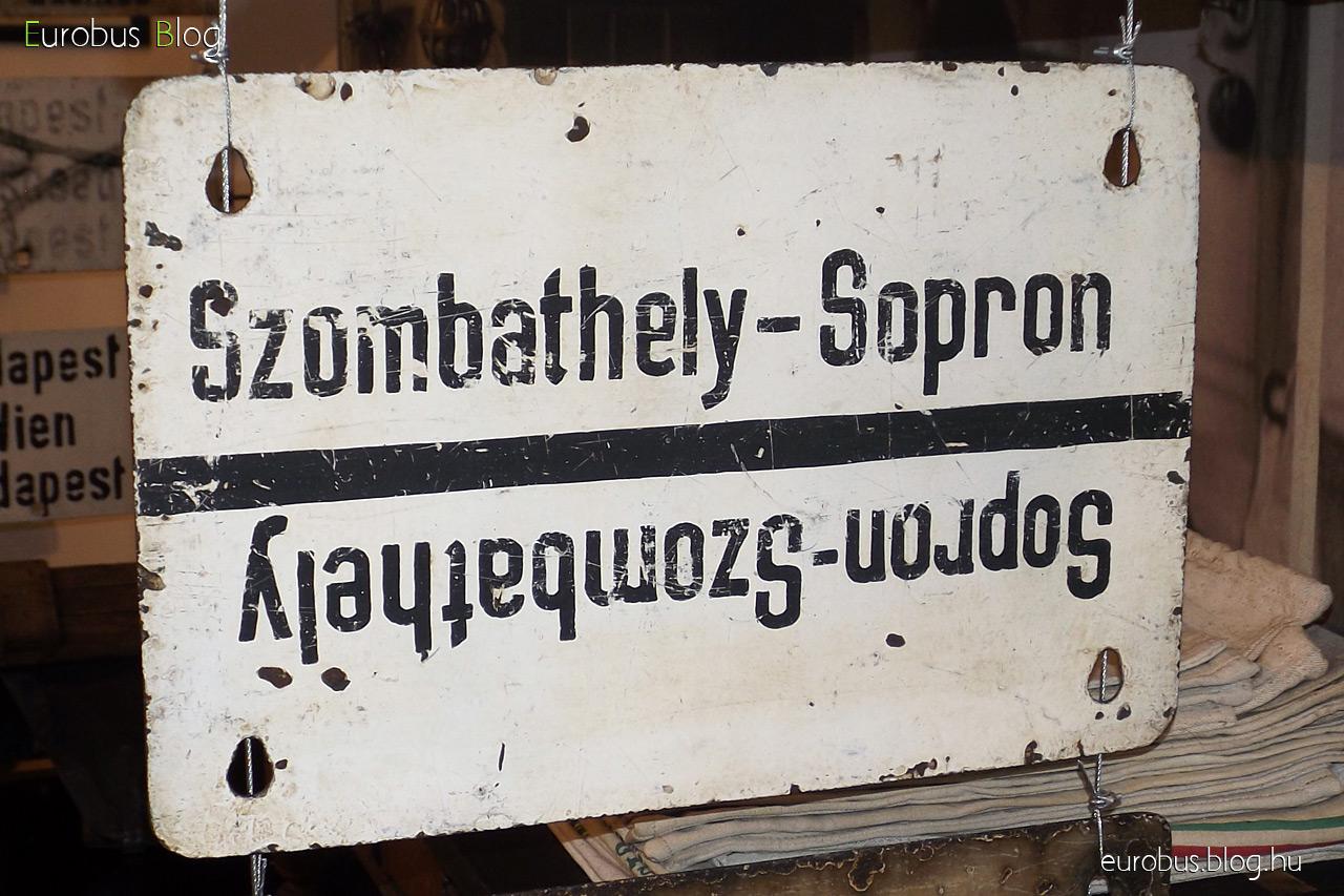 Táblagyűjtemény egy darabja: Szombathely - Sopron.