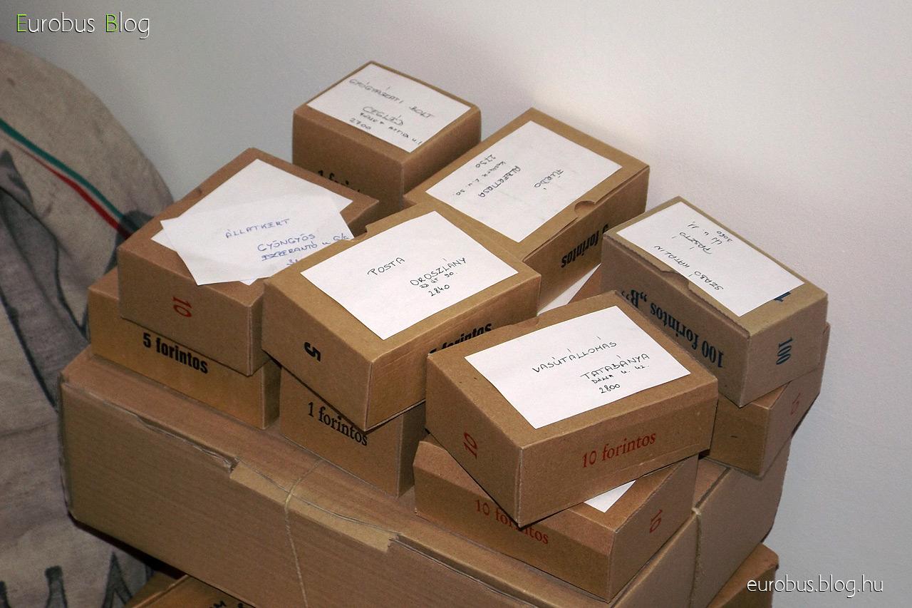 Dobozlevél kreálmányok, a pénzellátmány rolnijainak csomagolására való dobozkák felhasználásával, viszont ez mind hivatalra szóló címzéssel.