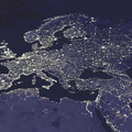 Európa felülnézetből – éjszakai fények az űrből