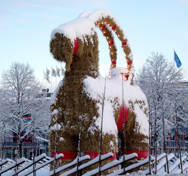 A karácsonyi szalmakecske (Gävlebocken) Svédországból