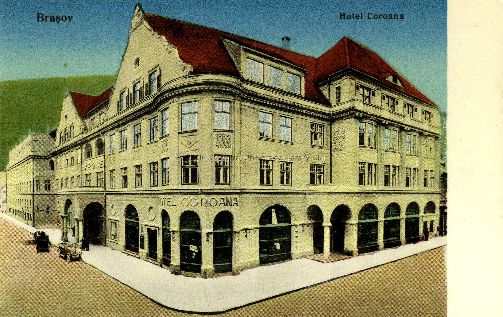 Brassó, Hotel Coroana (Lucian Blaga Central University Library, Cluj-Napoca, Románia)