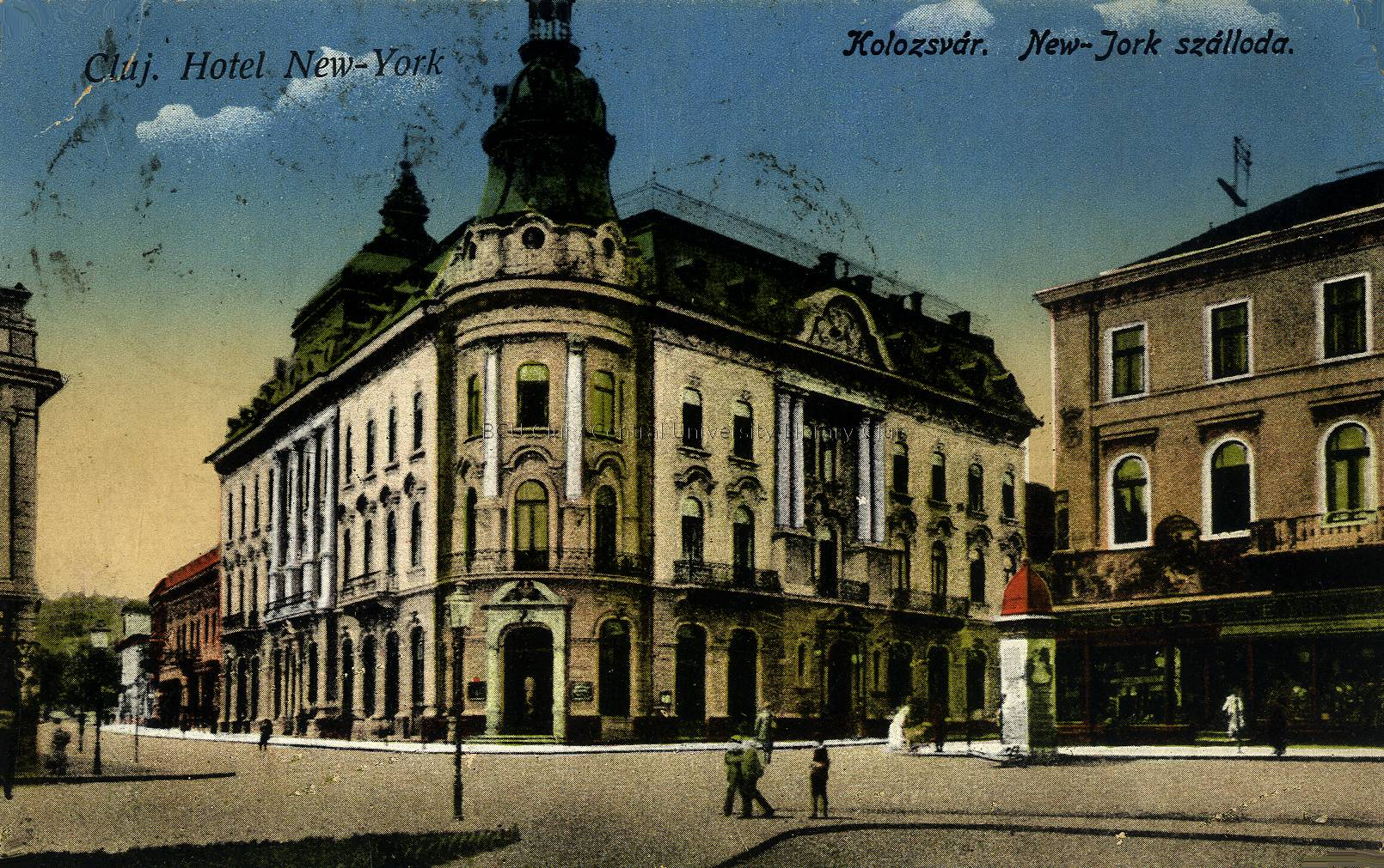 Hotel New-York, Kolozsvár (levelező-lap; Lucian Blaga Central University Library, Cluj-Napoca, Románia)