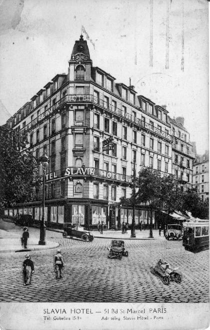 Slavia Hotel, Párizs,1931
