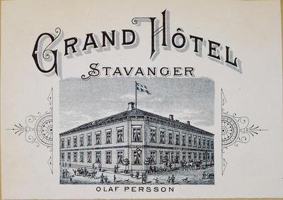 Grand Hôtel, Stavanger (Olaf Persson, Litografiska Museet)