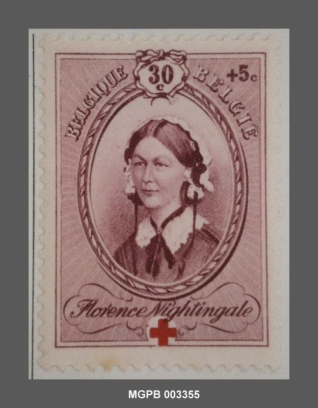 30 + 5 cèntimes Florence Nightingale-lel. 1939, Museu Gabinet Postal de Barcelona (Collecció Marull), Spanyolország, CC BY-NC