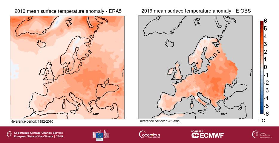 2019-es szárazföldi hőmérsékleti anomáliák