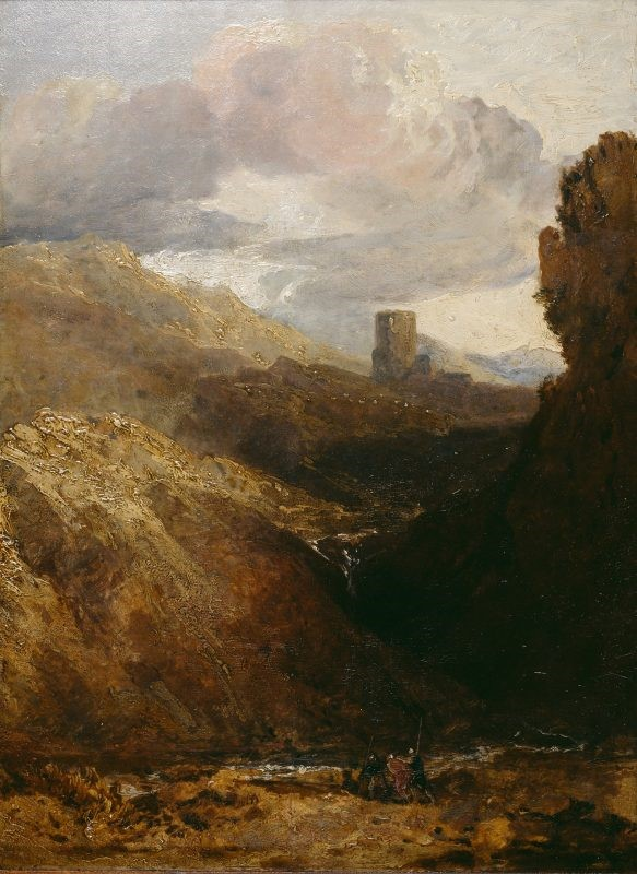 Dolbadarn Castle, J.M.W. Turner, 1799-1800. National Library of Wales, United Kingdom, Public Domain (forrás: Europeana)
