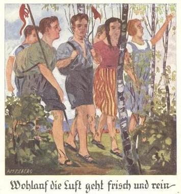 'Nos, a levegő friss és tiszta' (Wohlauf die Luft geht Frisch und Rein), Universität Osnabrück | Historische Bildpostkarten, Germany, CC BY-NC-SA (forrás: Europeana)