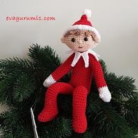 Elf - karácsonyi horgolt amigurumi manó