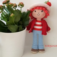 Eperke baba/ Strawberry doll