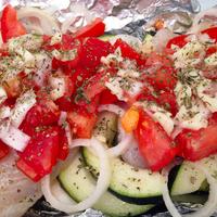 Alufóliában sült hal zöldségekkel