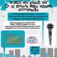 Jótékonysági kulturális est slam poetry-vel és stand up comedy-vel