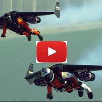 Két Jetman repül Dubaj felett