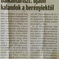 Sajtómegjelenések - Balkánturiszt